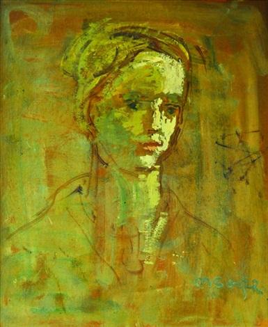 portrait of a woman study by moses soyer