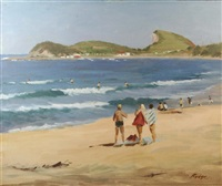 terrigal beach by albert rydge