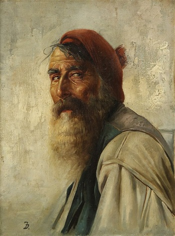 portrait of a bearded man by frank duveneck