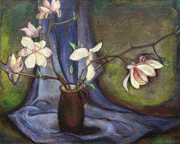 Still Life With Vase And Flowers By Natalia Goncharova On Artnet