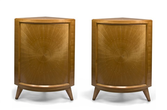 corner cabinets pair by rené drouet