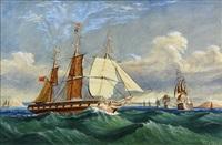 british ship in cork harbor by richard peterson atkinson