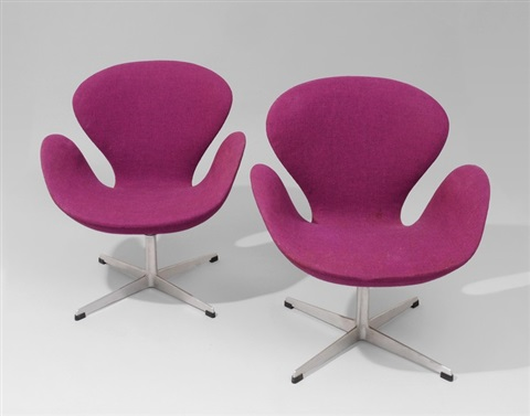 ein paar sessel swan pair by arne jacobsen