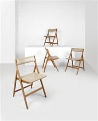 quattro sedie pieghevoli imbottite by gio ponti