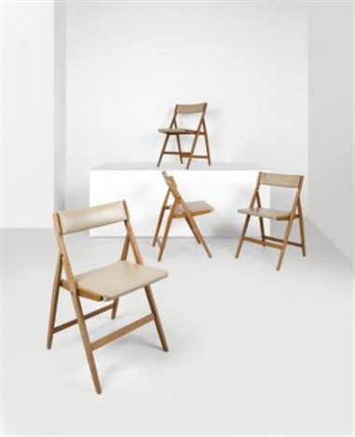 Quattro sedie pieghevoli imbottite by Gio Ponti on artnet