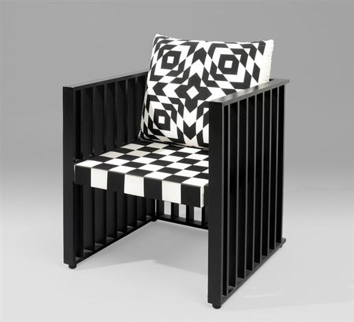 sessel purkersdorfer by josef hoffmann on artnet. Black Bedroom Furniture Sets. Home Design Ideas