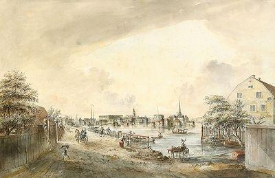 stockholm mot wäster sedt från nya kungsholms bron by johan fredrik martin