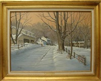 winter landscape by george booz