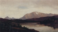 a river landscape by carl von perbandt