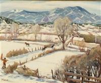 winter in taos by joseph amadeus fleck