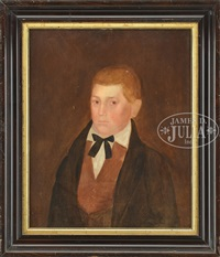 portrait of a young man with red hair by sheldon peck