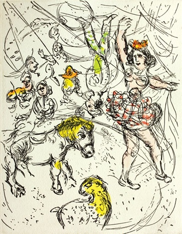 le poney from au cirque by marc chagall