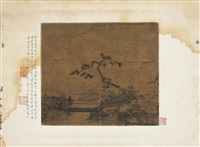 松溪拜月图 (tree by the river) by ma yuan