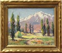 sierras from big pine by evylena nunn miller
