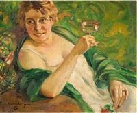 porträt der lina kricheldorf by carl kricheldorf