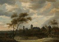 wandelaars in landschap by pieter cosyn