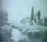 landscape scene by josef krotter