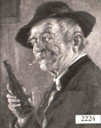 man drinking wine by hans barttenbach