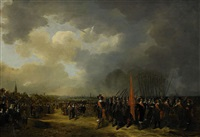 the english queen henrietta maria's departure from scheveningen year 1643 by paulus lesire