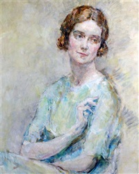 portrait of a young lady by ambrose mcevoy