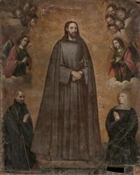 visión de cristo como jesuita por la venerable marina de escobar con su confesor, luis de la puente by diego valentin diaz