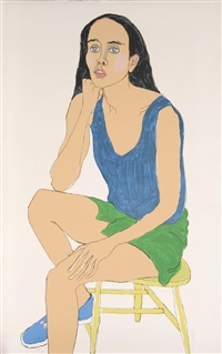 portrait of young woman by alice neel