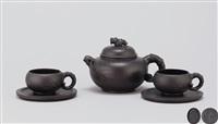 五头套壶 (bamboo shaped teapot set) (set of 3) by ji yishun