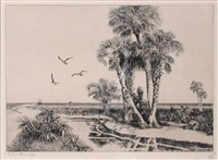 palmettoes, fla. (+ 2 others; 3 works) by walter ronald locke