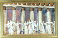 tempeltänzer by evgeni evgen'evich lansere