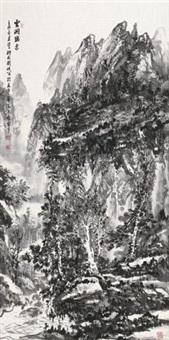 山水条幅 (landscape) by liu hao