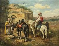 orientalist scene by arthur trevor haddon