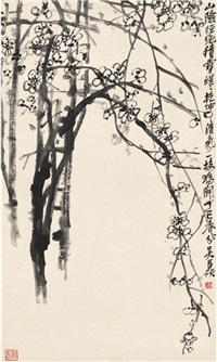 寒梅图 (plum blossom) by wu changshuo