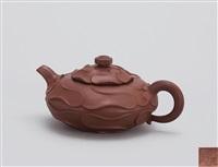 风卷葵 (teapot in the shape of curled leaf) by ji yishun