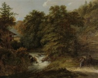 grosse landschaft mit bergbach by johann georg volmar