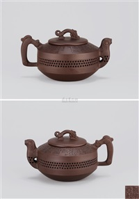 龙凤呈祥 (teapot with decoration of dragon and phoenix) by xu xiutang