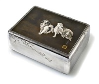 a imperial presentation tobacco box by unno bisei (yoshimori ii) and unno shomin