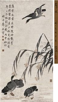 芦雁图 (geese) by xue huai