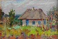house in a garden in flower by nicolas gloutchenko