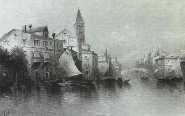 vue of venice by carlo chiostri