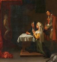 kapelle mit betenden by jean-léonard lugardon