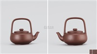 神韵提梁壶 (teapot with overhead handle) by zhou guizhen