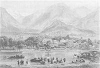 la vallée d'interlaken, de la colline du holbüh by leon jean-baptiste sabatier