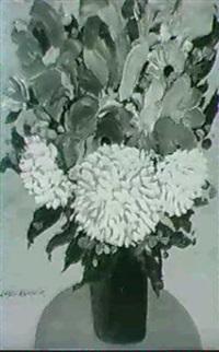 floral still life by lazlo kadlacskik