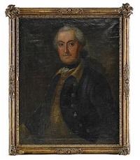 porträtt föreställande översten och adelsmannen hans leonard drake af hagelsrum, iklädd uniformsrock by johan stålbom