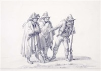 three soldiers by dietrich wilhelm lindau