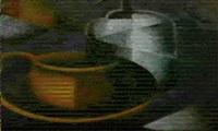 stilleben mit brauner tasse und siphon by sophie fedorovich