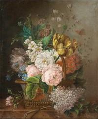 stillleben mit frühlingsblumen by louis lejeune