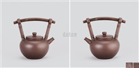 汉韵壶 (teapot with overhead handle) by xu daming