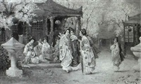 ladies concert in the garden by r. yoshida