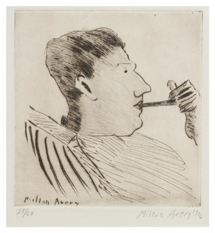 rothko with pipe by milton avery